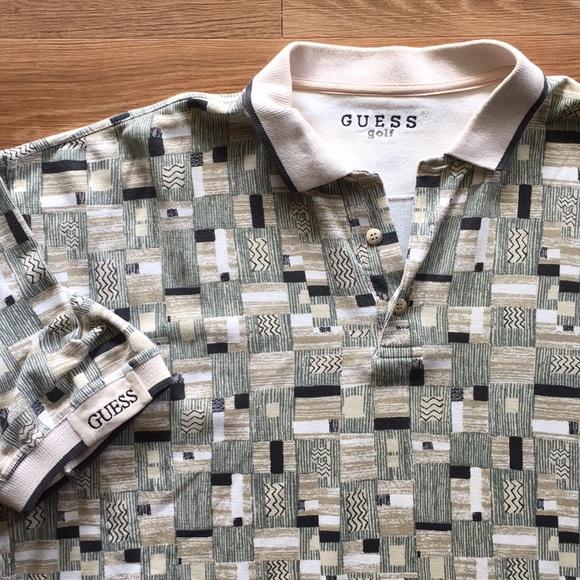 565b4b155 Guess Shirts | Vintage Golf Polo | Poshmark